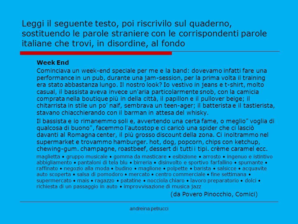Step 1 conoscere i prestiti dall italiano alle altre - Testo prima o poi gemelli diversi ...