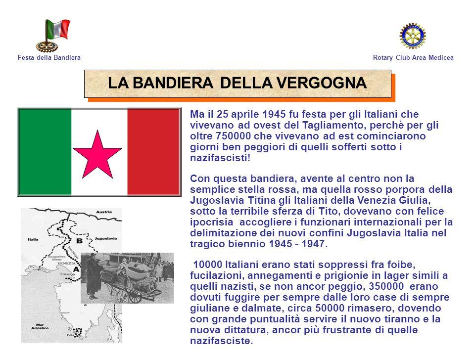 Risultato immagini per foibe bandiera italia  con la stella  al centro
