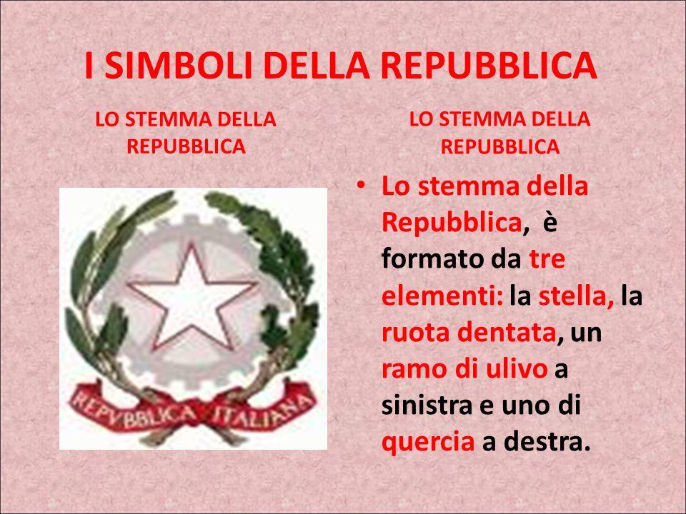 I simboli della repubblica italiana per bambini for Stemma della repubblica italiana da colorare