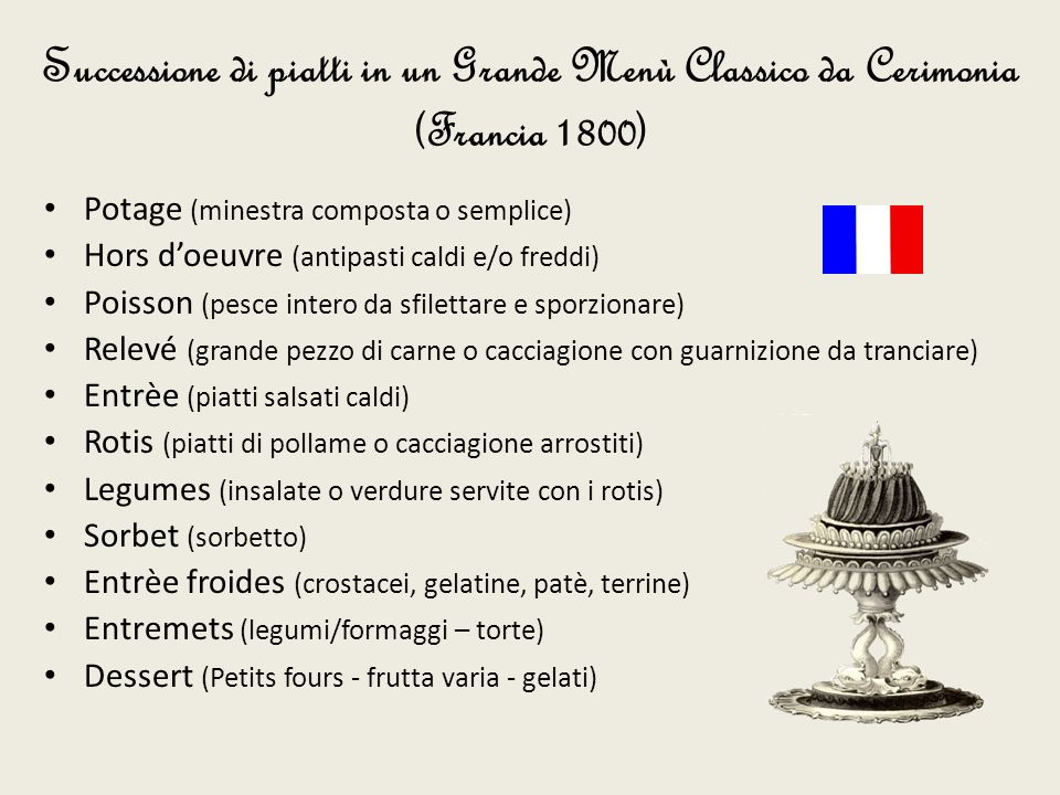 Modulo 9 il menu ppt video online scaricare for Menu tipico frances