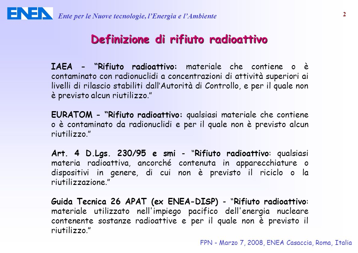 Definizione di datazione radioattiva