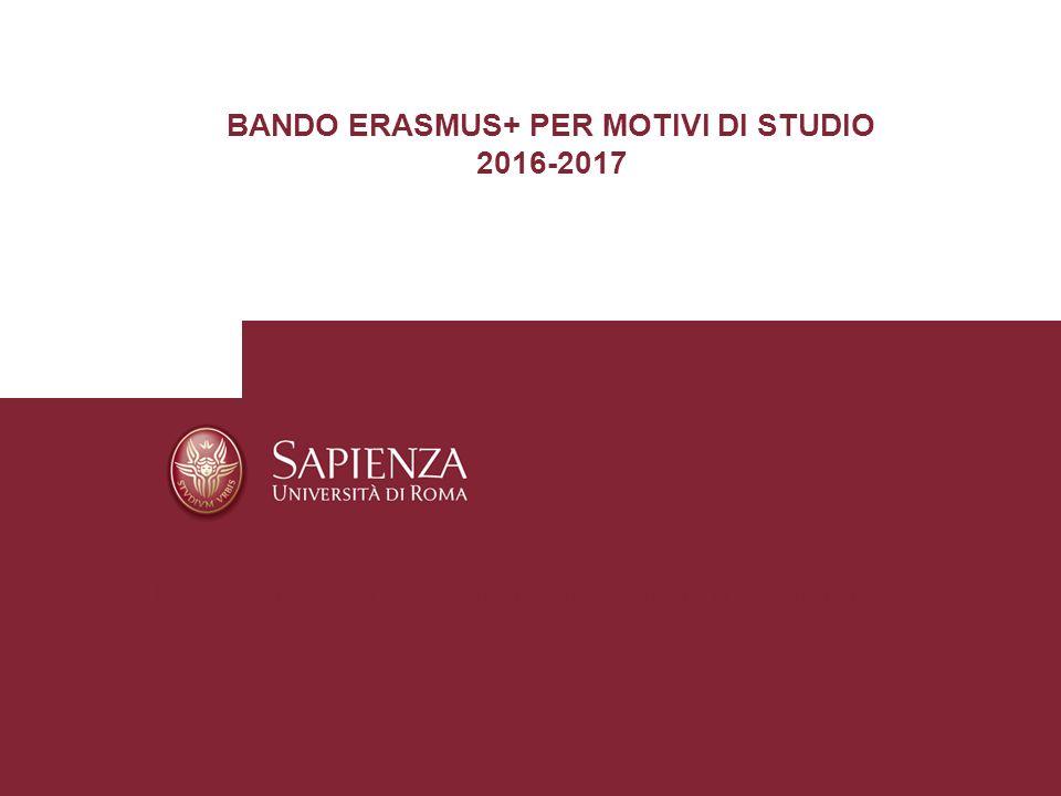 BANDO ERASMUS+ PER MOTIVI DI STUDIO - ppt scaricare fda71c0293a5