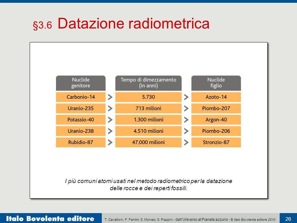 radiazioni in datazione radioattiva