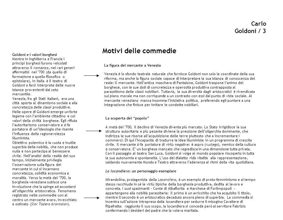 Carlo goldoni a cura del prof luigi o rintallo ppt for Cucinare nei vari dialetti italiani