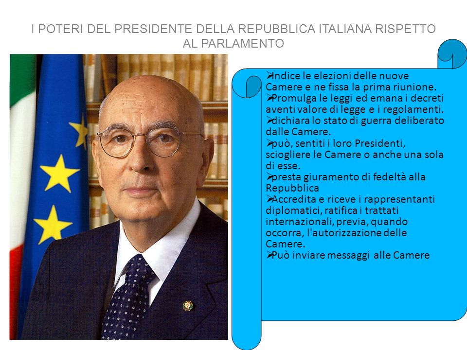 Il presidente della repubblica ppt scaricare for Parlamento della repubblica italiana