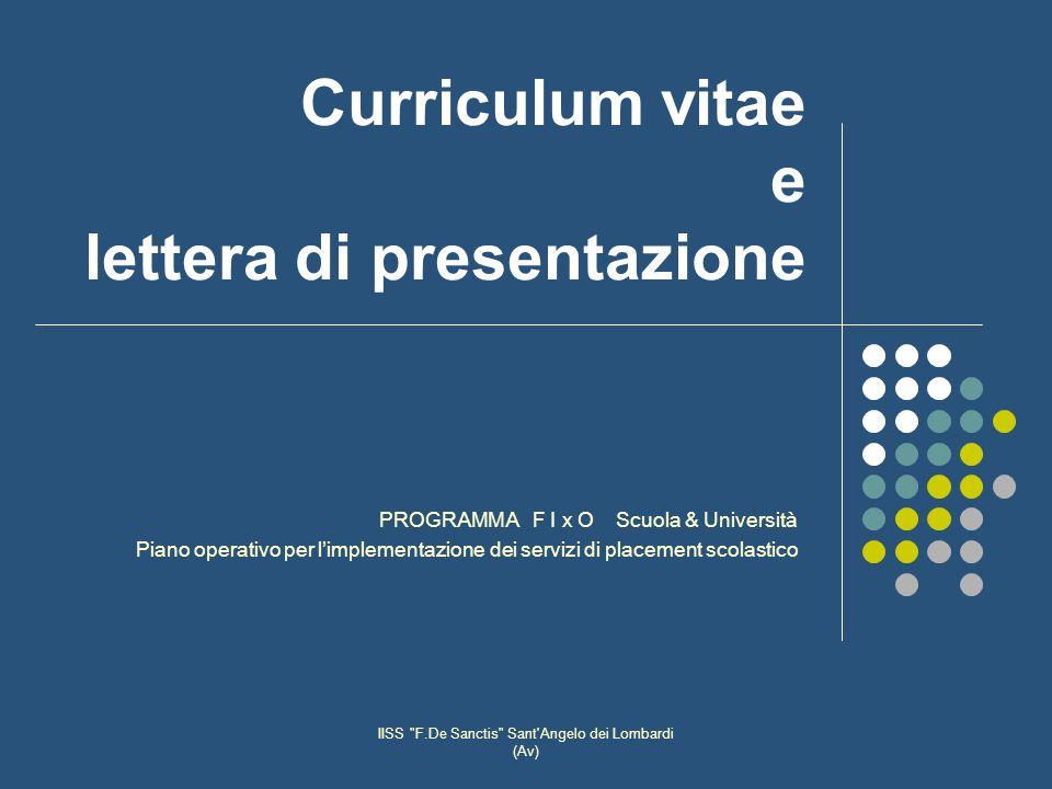 Curriculum Vitae E Lettera Di Presentazione Ppt Scaricare