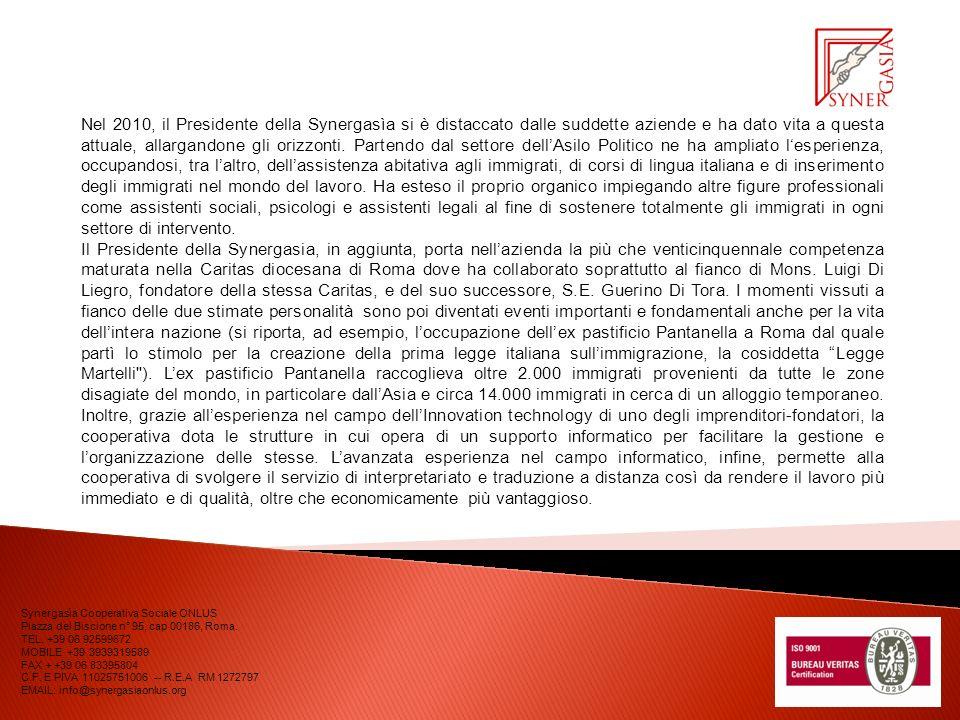 Synergas a cooperativa sociale onlus ppt scaricare for Alloggio ad ovest delle cabine