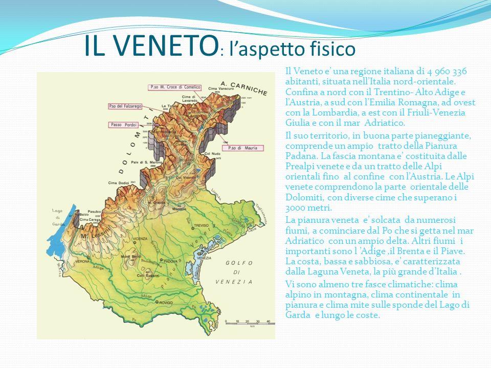Cartina Politica Del Veneto.Il Veneto L Aspetto Fisico Ppt Scaricare