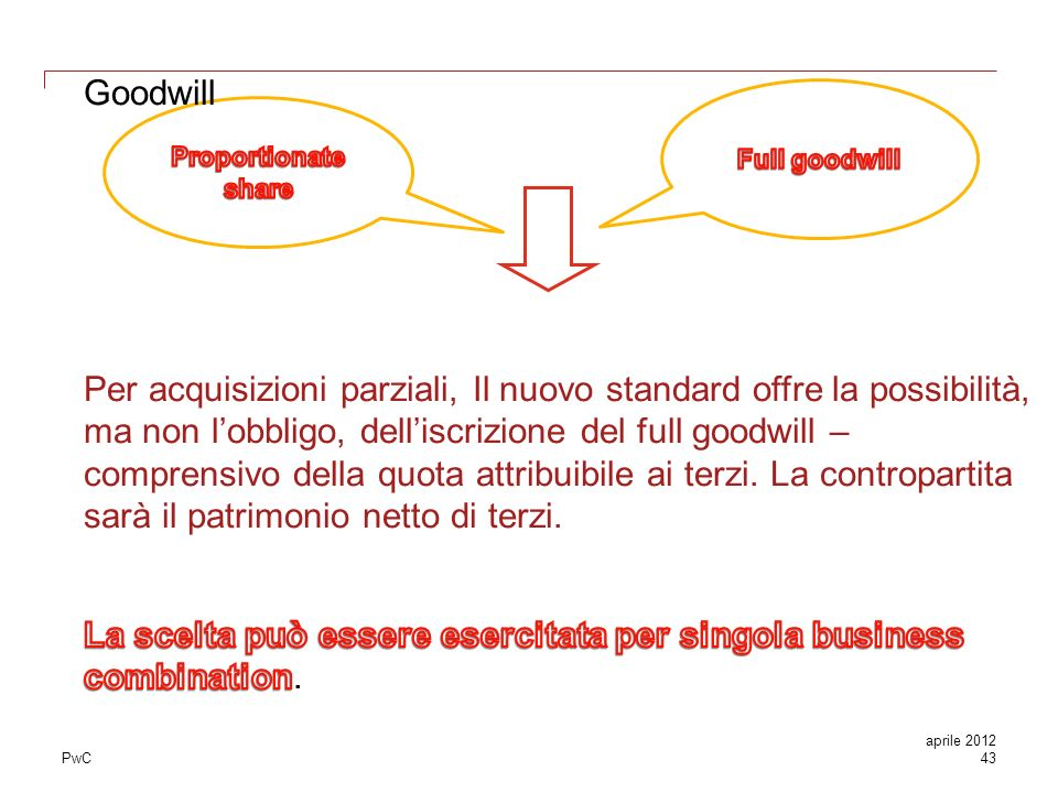 Business combinations IFRS - ppt scaricare