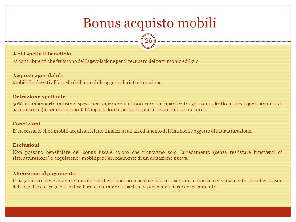 Focus on evento organizzato da giovani ance catania ppt scaricare - Bonus mobili iva ...