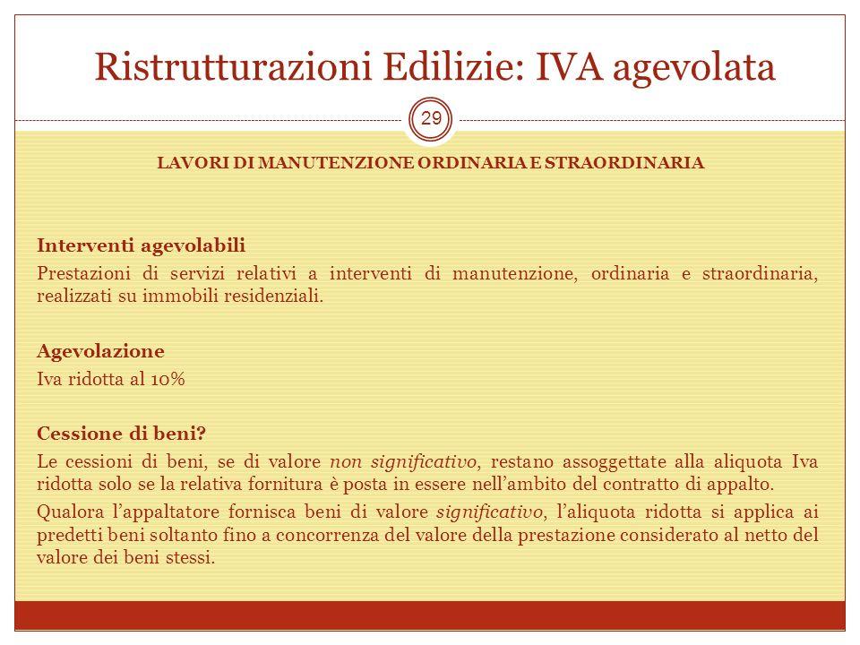Amazing Ristrutturazioni Edilizie: IVA Agevolata