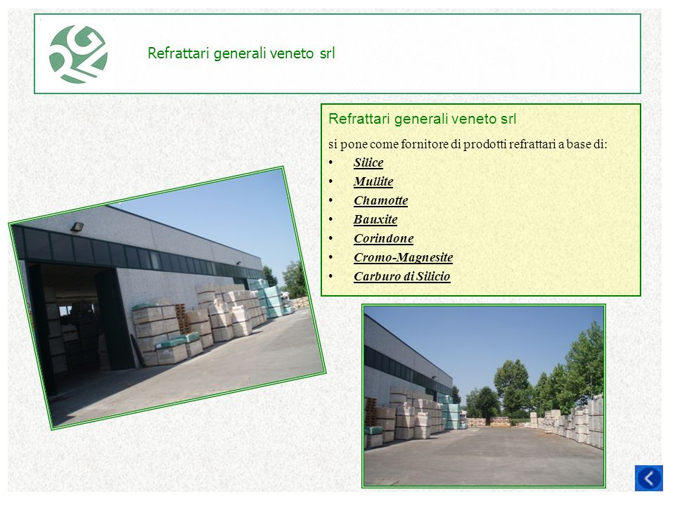 R g s refrattari generali srl refractory global service srl ppt