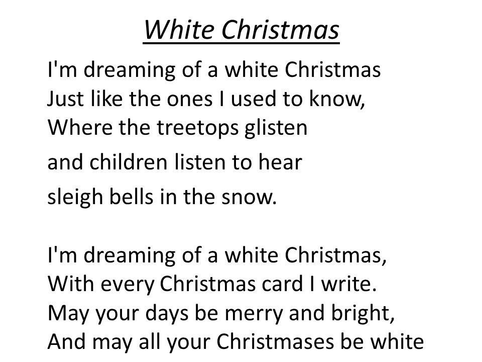 White Christmas and children listen to hear