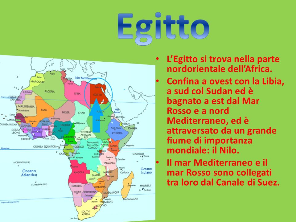 Cartina Africa Egitto.Egitto Ppt Scaricare