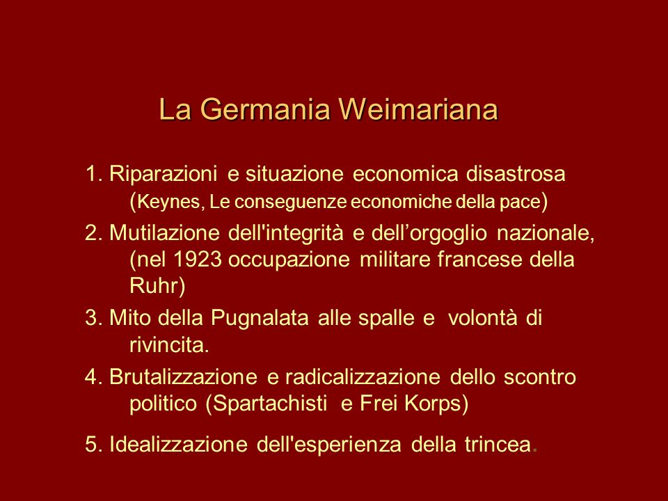La Germania Weimariana